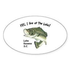 Lake Keowee SC bass Oval Decal
