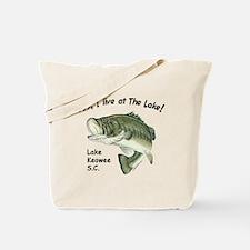 Lake Keowee SC bass Tote Bag