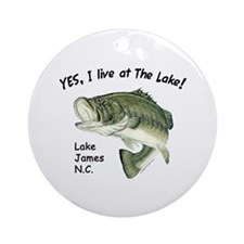Lake James NC bass Ornament (Round)