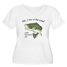 Lake Hartwell GA bass T-Shirt