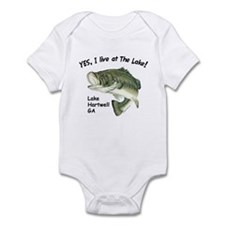 Lake Hartwell GA bass Infant Bodysuit