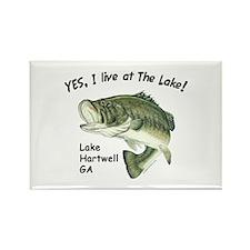 Lake Hartwell GA bass Rectangle Magnet