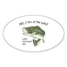 Lake Hartwell GA bass Oval Decal