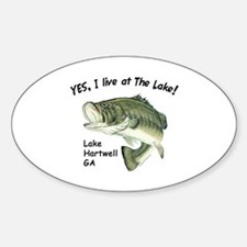Lake Hartwell GA bass Oval Decal