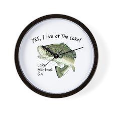 Lake Hartwell GA bass Wall Clock