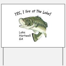 Lake Hartwell GA bass Yard Sign