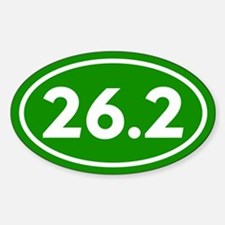 Green 26.2 Marathon Runner Decal