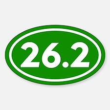 Green 26.2 Marathon Runner Sticker (Oval)
