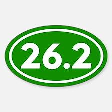 Green 26.2 Marathon Runner Decal