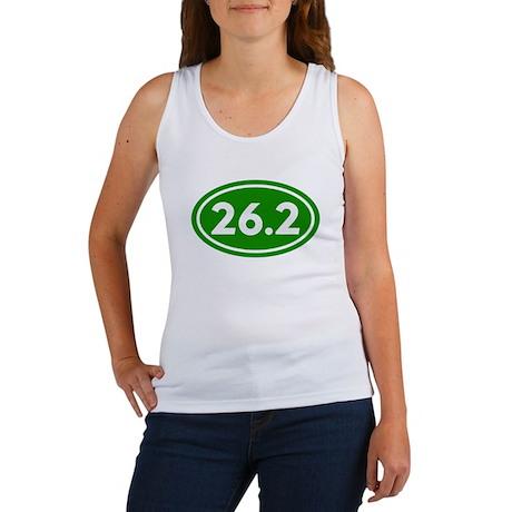 Green 26.2 Marathon Runner Women's Tank Top