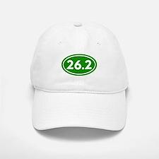 Green 26.2 Marathon Runner Baseball Baseball Cap
