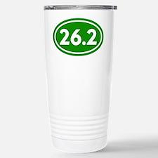 Green 26.2 Marathon Runner Travel Mug