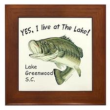 Lake Greenwood SC bass Framed Tile