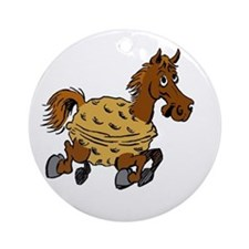 Horse or Pony Nut cartoon