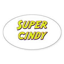 Super cindy Oval Decal