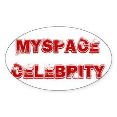 Myspace Shirts Oval Sticker (10 pk)