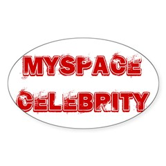 Myspace Shirts Oval Sticker (10 pk)