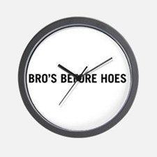 Bro's Before Hoes Wall Clock