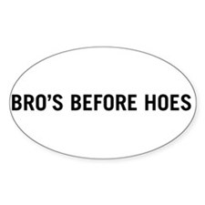 Bro's Before Hoes Oval Sticker (10 pk)