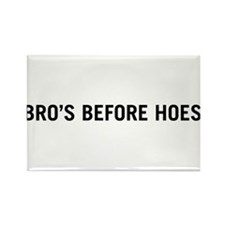 Bro's Before Hoes Rectangle Magnet