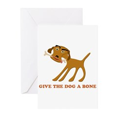 Give the Dog a Bone Greeting Cards (Pk of 20)