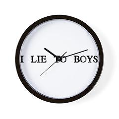 I Lie to Boys Wall Clock