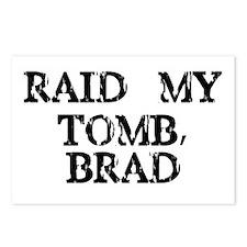 Raid My Tomb, Brad Postcards (Package of 8)