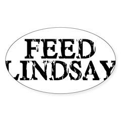 Feed Lindsay Oval Sticker