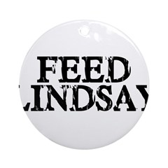 Feed Lindsay Ornament (Round)