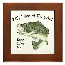 Kerr Lake NC bass Framed Tile