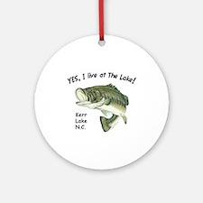 Kerr Lake NC bass Ornament (Round)