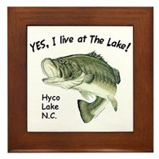Hyco lake NC bass Framed Tile