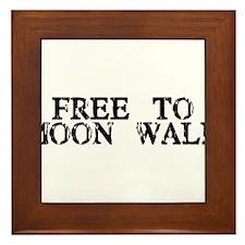 Free To Moon Walk Framed Tile