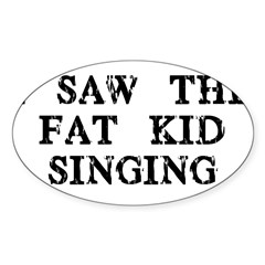 Fat Kid Singing Oval Sticker (10 pk)