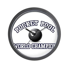 Pocket Pool Champion Wall Clock