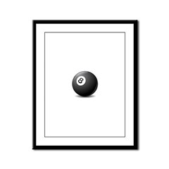 eight ball Framed Panel Print