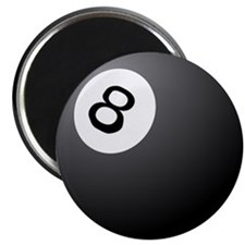 "eight ball 2.25"" Magnet (100 pack)"
