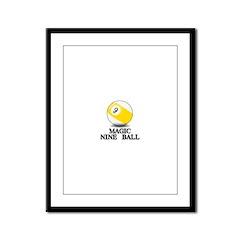 Magic Nine Ball Framed Panel Print