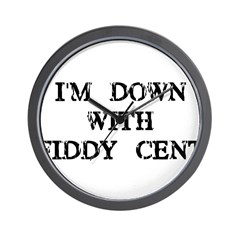 I'm Down with Fiddy Cent Wall Clock