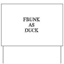Frunk as Duck Yard Sign