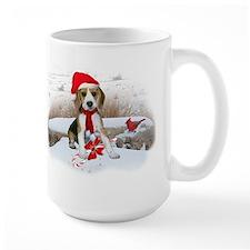 Beagle Christmas Scene Mug