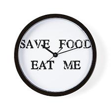 Save Food Eat Me Wall Clock