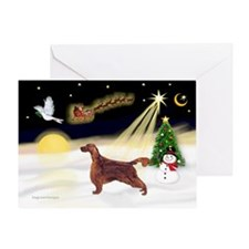 Night Flight/Irish Setter Greeting Card
