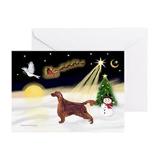 Night Flight/Irish Setter Greeting Cards(Pk of 10)