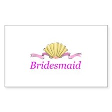 Bridesmaid heart clamshell Rectangle Sticker 10 p