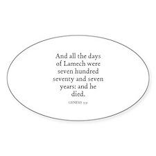GENESIS 5:31 Oval Decal