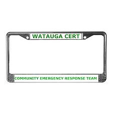 Watauga CERT License Plate Frame