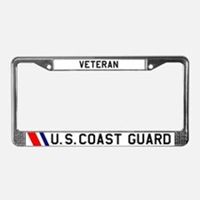 USCG Veteran License Plate Frame