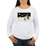 Night Flight/Fox Terrier Women's Long Sleeve T-Shi