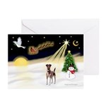 Night Flight/Fox Terrier Greeting Cards (Pk of 10)